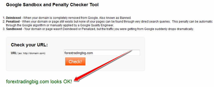 Check if site is penalized by Google